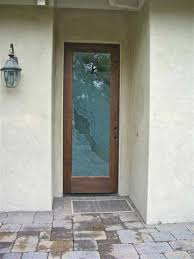 frosted glass front door small