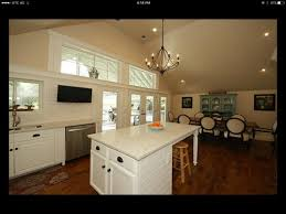 pendant lighting from vaulted kitchen
