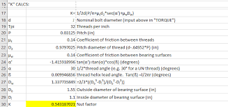What Is Wrong With My Nut K Factor Calculation Welding