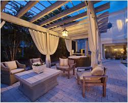 pergola lighting ideas. Pergola Lighting Ideas Designs Simple And Stylish With Neutral Color Decorate Ornamnets Rattan Wooden Chairs G
