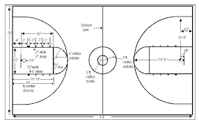 best photos of printable basketball court dimensions   printable    basketball court diagram layout