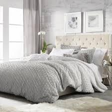 ombre 3 piece grey king comforter set