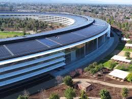 apple office. Apple Park Drone Flyover January 1 18 00065 Office L