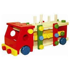 Винтовой <b>конструктор</b> Qiqu <b>Wooden Toys</b> Стучалка Машина