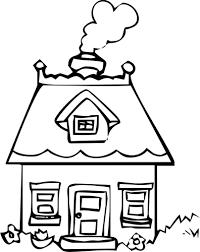 Huis Van Het Boek Kleurplaten Vectorafbeelding Voor Openbaar Gebruik