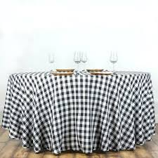 black and white tablecloth round black white checd whole gingham polyester linen picnic restaurant dinner tablecloth