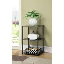 Metal Living Room Furniture Convenience Concepts Designs2go No Tools 3 Tier Lamp End Table