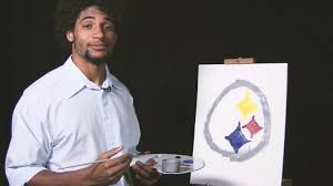 ross rell channels late television painter bob ross in recent steelers