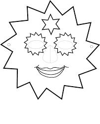 Kleurplaat Masker Van Een Zonnetje 9431 Kleurplaten