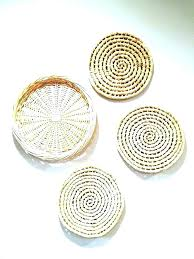 wicker wall decor art basket set of woven baskets trivets rattan starfish