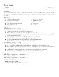 Resumes For Social Workers Work Resume Examples Social Work Resume