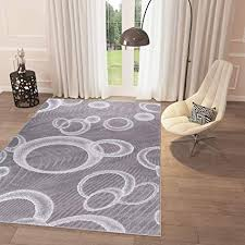 Black and White Grey Bubbles Area Rug 5' x 7'2'' Casual Modern Rug for Dining Living Room Bedroom Easy Clean Carpet
