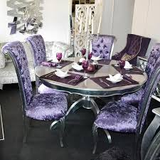 bespoke silver leaf 1 5m round dining table as new ex show home furniture