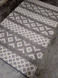 universal rugs white and grey hand woven rug