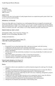 Youth Program Director Resume Sales Director Lewesmr