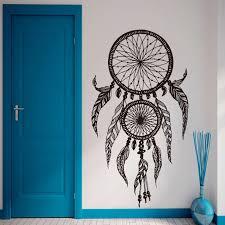dreamcatcher wall art 53cm 113cm dreamcatches ethnic feather dream catcher wall art vinyl