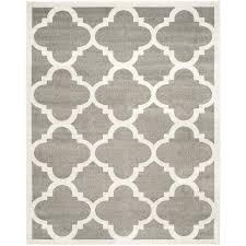 safavieh pompey dark gray beige indoor outdoor area rug common 9 x