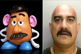 real mr potato head. Delighful Potato U0027Mr Potato Headu0027 Jailed For Jury Intimidation Intended Real Mr Head T