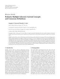 Nite Light Pediatrics Houston Pdf Pediatric Multiple Sclerosis Current Concepts And