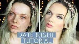 acne coverage date night make up tutorial wednesday 25 february 2016