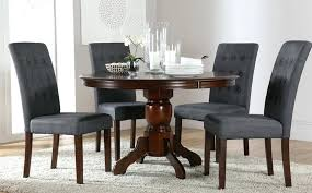 dining tables stunning dark wood round table and chairs for 6