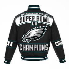Men's B… Fanatics Branded Pro Full-snap Black Super By Nfl Line Bowl Leather Eagles Champions Jacket Philadelphia Lii