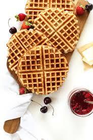 vegan gluten free waffles minimalist