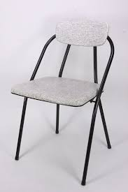 black metal folding chairs. Mid Century Modern Metal Folding Chair Perhaps Cosco Stylaire Black \u0026 White Chairs