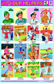 Our Community Helpers Chart Details About Our Helpers Community Helpers Chart For Kids Educational Learning Chart Poster