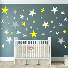 pink and grey nursery wall decor yellow and gray nursery wall decor star wall decals yellow