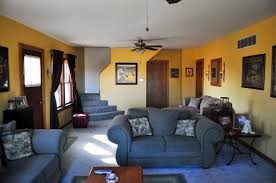 Living Room Blue Adding Yellow Accent For Exquisite Living Room Without Boring