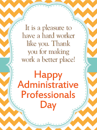 Administative Day We Are Thankful Happy Administrative Professionals Day Card