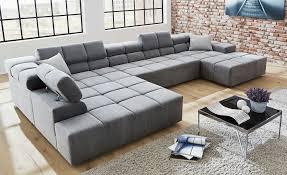 Sofa Breite Sitzfläche Wohnlandschaft Verstellbar Jannicka