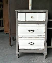 two tone painted furniture. Nightstand-paint-makeover-project Two Tone Painted Furniture T