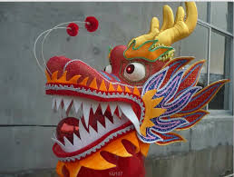 Buy Online red chinese dragon head chinese dragon <b>dance</b> prop ...