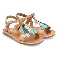 Pom D Api Size Chart Pom Dapi Tan Toucan Detail Leather Plagette Sandals