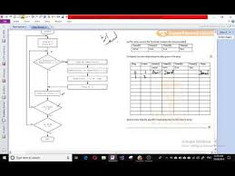 Trace Table For Flow Chart How To Fill In Trace Table To Dry Run Flowchart Youtube