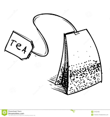 tea bag drawing. Modren Drawing Tea Bag With Label In Bag Drawing A