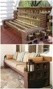 concrete block furniture. fine block diy concrete cinder block bench seating10 furniture  projects to b