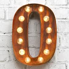 letter lighting. Carnival Letter Lights 13 Rust: O Lighting
