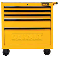 Roll Around File Cabinets Dewalt 36 In 5 Drawer Rolling Tool Cabinet Yellow Dwmt73679