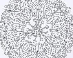 Small Picture Printable Instant Download Adult Coloring Book Pages DIY