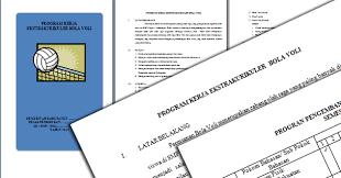 Contoh Program Kerja Ekstrakurikuler Olahraga Arsip Berkas Edukasi