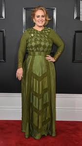 adele arrives for the 59th annual grammy awards on sunday february 12