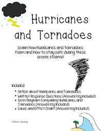 Venn Diagram Comparing Tornadoes And Hurricanes Hurricane And Tornado Reading Comprehension By Eclectic Educating