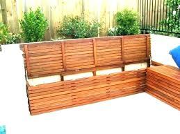 storage bench garden outdoor bench seat