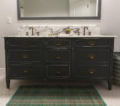vintage black double washstand with library style hardware