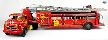 awesome 1950s original vintage marx lumar v f d hook ladder fire truck