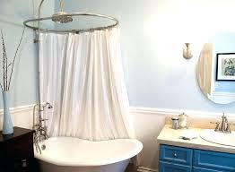 clawfoot tub shower curtain rod you can make yourself tub shower curtain rod you can make