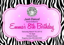 Childrens Disco Party Invitations